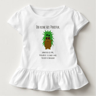Frill shirt with hedgehog poem