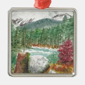 Frillensee Bavaria Silver-Colored Square Ornament