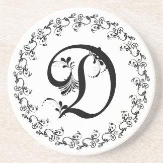 Frilly D Monogram Coaster