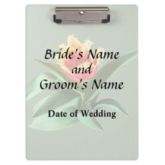 Frilly Orange Tulip Wedding Products Clipboards