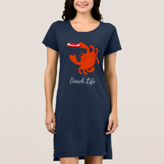 Frisbee Crab Beach Cover Up Dress