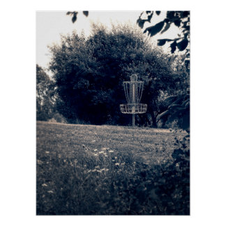 Frisbee Disc Golf Basket Poster