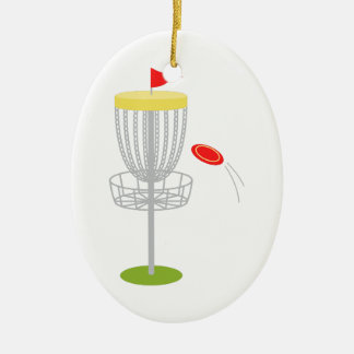 Frisbee Disc Golf Ceramic Ornament
