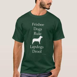 Frisbee Dogs Rule Dark T-Shirt
