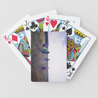Frisbee in the Rain Bicycle Playing Cards