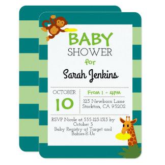 Frisbee Jungle Baby Shower 3x5 Invitation