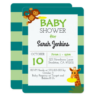 Frisbee Jungle Baby Shower Invitation