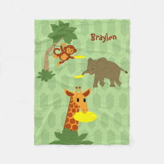 Frisbee Jungle Fleece Blanket