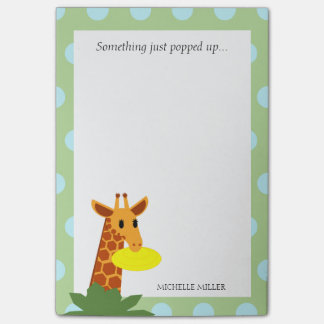 Frisbee Jungle Giraffe Personalized Post-it Notes
