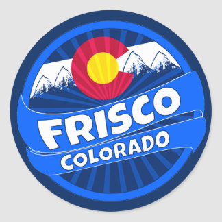 Frisco Colorado mountain burst sticker