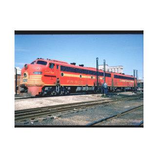 Frisco EMD E-8A #2010, 1966_Trains Canvas Print