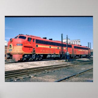 Frisco EMD E-8A #2010, 1966_Trains Poster