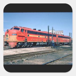 Frisco EMD E-8A #2010, 1966_Trains Square Sticker
