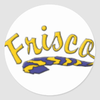 Frisco High School Tail Round Sticker