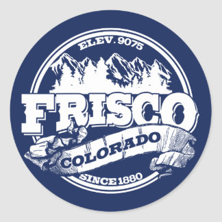 Frisco Old Circle Blue Round Sticker