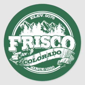 Frisco Old Circle Green Round Sticker