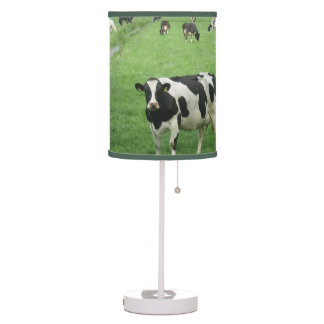 Frisian Holstein Cows Desk Lamp
