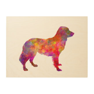Frisian Pointer in watercolor Wood Print