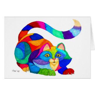 Frisky cat card