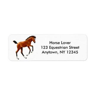 Frisky Thoroughbred Foal Avery Label Return Address Label