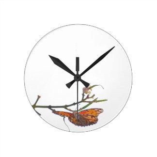Fritillary Butterfly Flowers Floral Wildlife Clocks