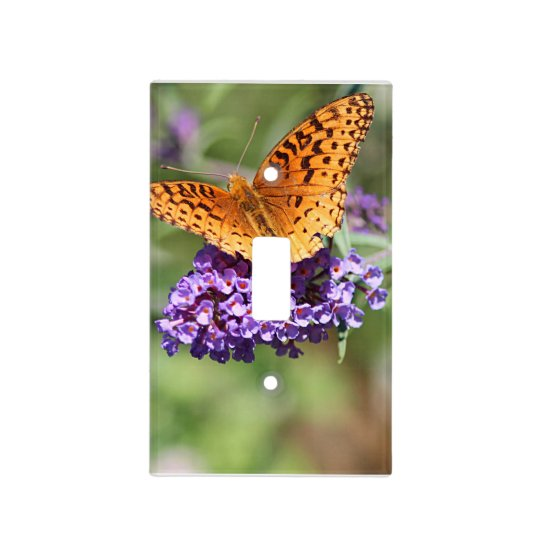 Fritillary butterfly light switch cover