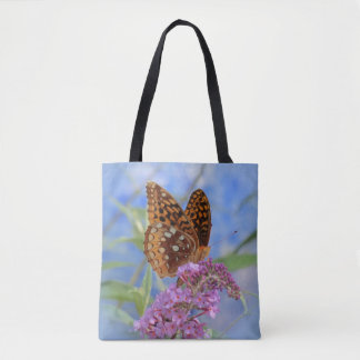 Fritillary on Blue - Butterfly Tote Bag