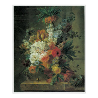 Fritillary & Other Flowers in a Marble Urn 1789 Posters