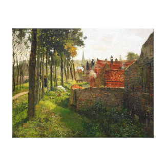 Frits Thaulow The Priest Canvas Print