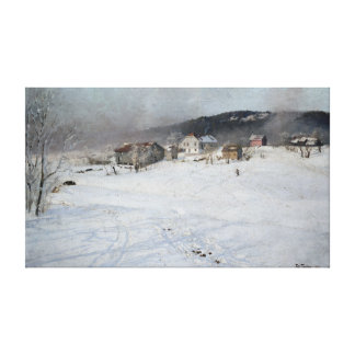 Frits Thaulow Winter Canvas Print