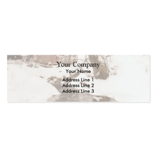 Frits Thaulow- Winter on the Isle of Stord Business Card Template