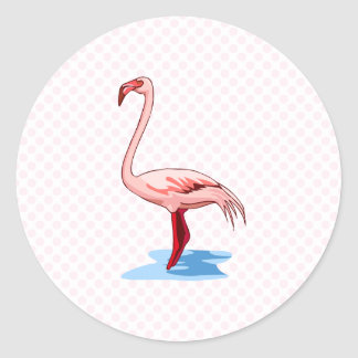 Fritz Flamingo Classic Round Sticker