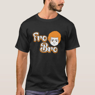 Fro Bro Dark - Orange & White T-Shirt