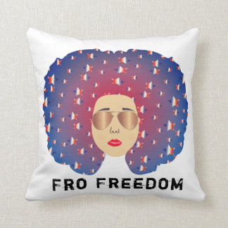 Fro Freedom Sun Glasses Throw Pillow