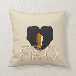 Fro united throw pillow
