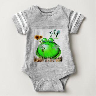 frog3hi baby bodysuit