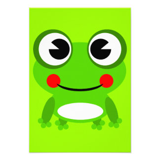 frog-152631 frog amphibian animal green happy smil personalized announcement