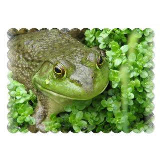"frog-1.jpg 5"" x 7"" invitation card"