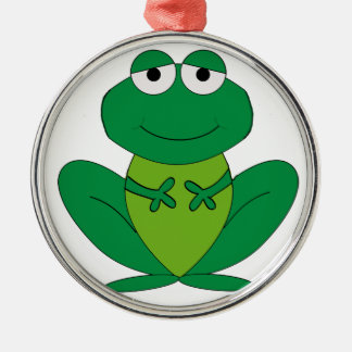 Frog 1 Silver-Colored round ornament