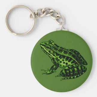 Frog 2 basic round button keychain