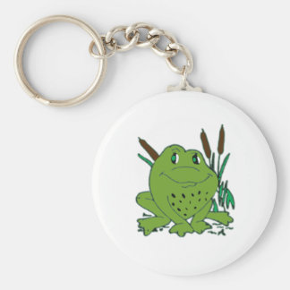 Frog 3 basic round button keychain