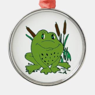 Frog 3 metal ornament