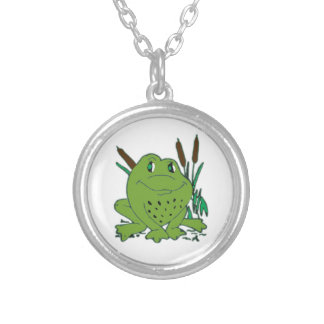 Frog 3 silver plated necklace