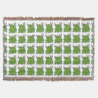 Frog 3 throw blanket
