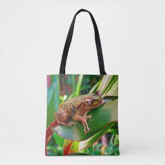 Frog All-Over-Print Tote Bag