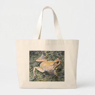 Frog (American Bull Frog) Large Tote Bag
