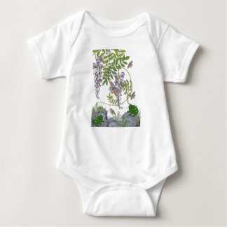 FROG AND BUTTERFLIES BABY BODYSUIT