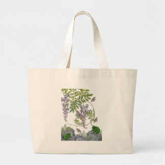 FROG AND BUTTERFLIES LARGE TOTE BAG