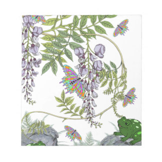 FROG AND BUTTERFLIES NOTEPAD