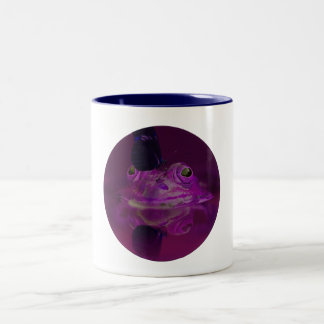 Frog and Butterfly Coffee Mug in Purple